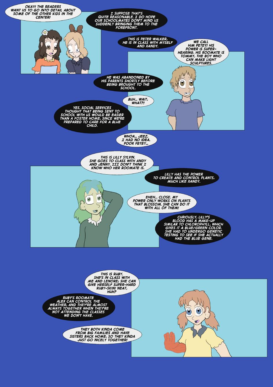 True Blue Filler: Side Characters