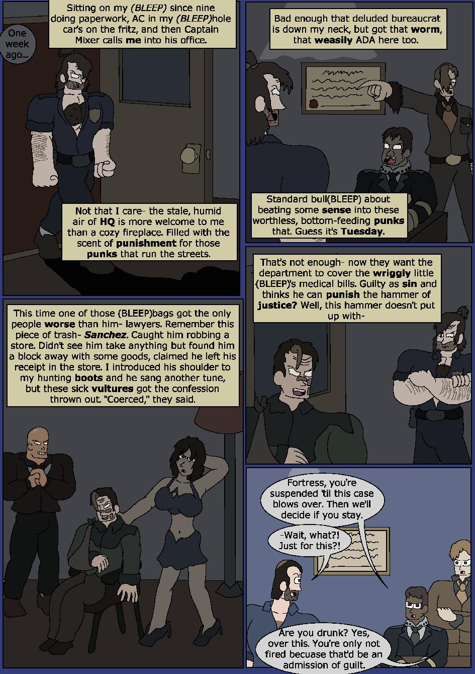Darker Blue, Page 1
