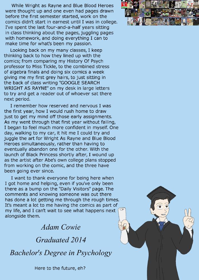 Blue Filler: Graduation Announcement