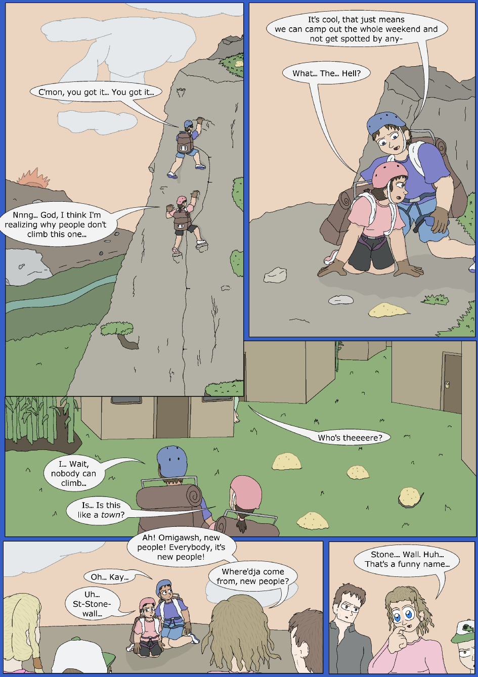 Stronger, Faster, Bluer, Page 1er